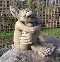 Big Ears Goblin Troll stone garden ornament